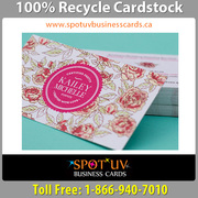 100% Brand Recycle Cardstock Business Cards