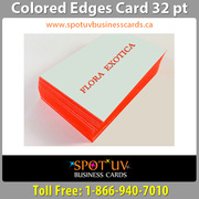 Stylish And Colored Edge Business Cards